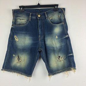 🌵Zara Man Denim Distressed Shorts